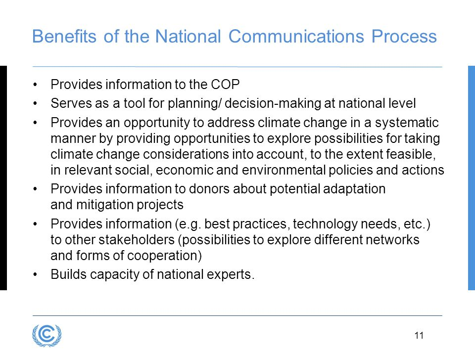 Benefits of the National Communications Process