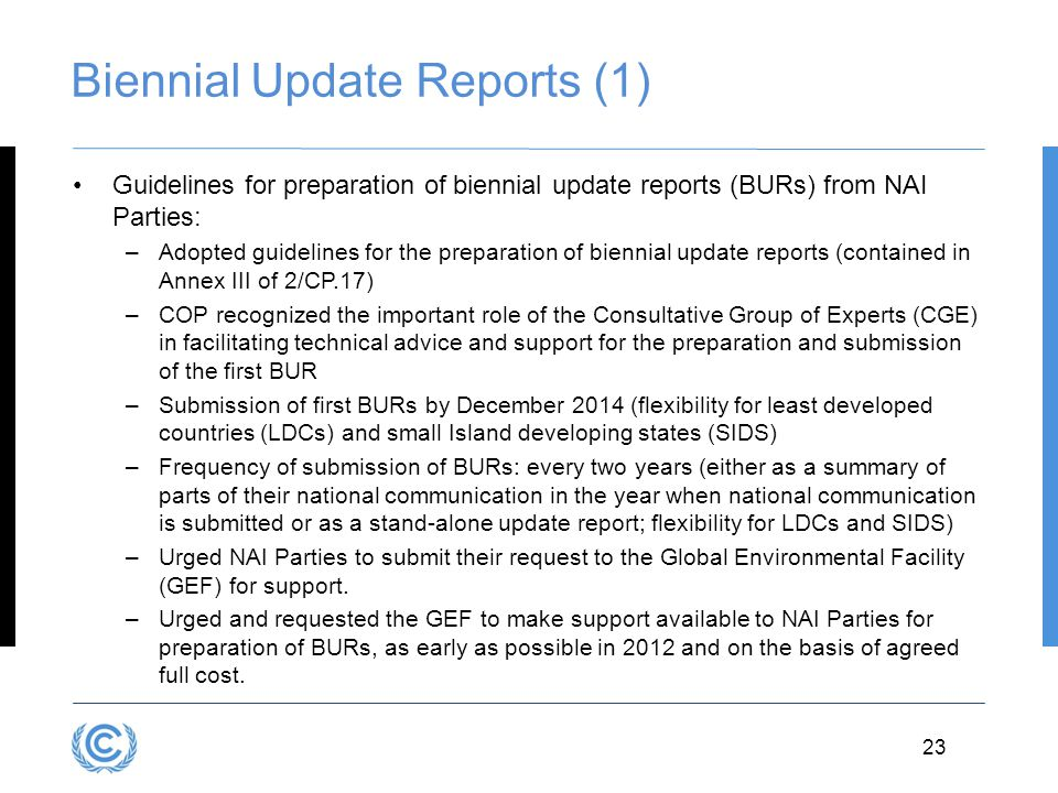 Biennial Update Reports (1)