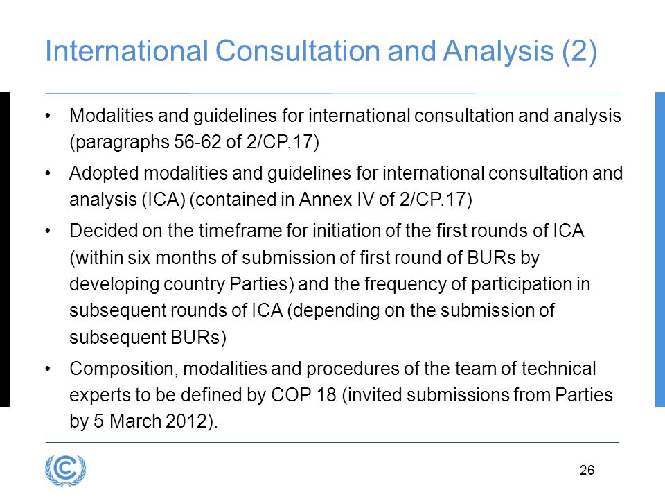 International Consultation and Analysis (2)