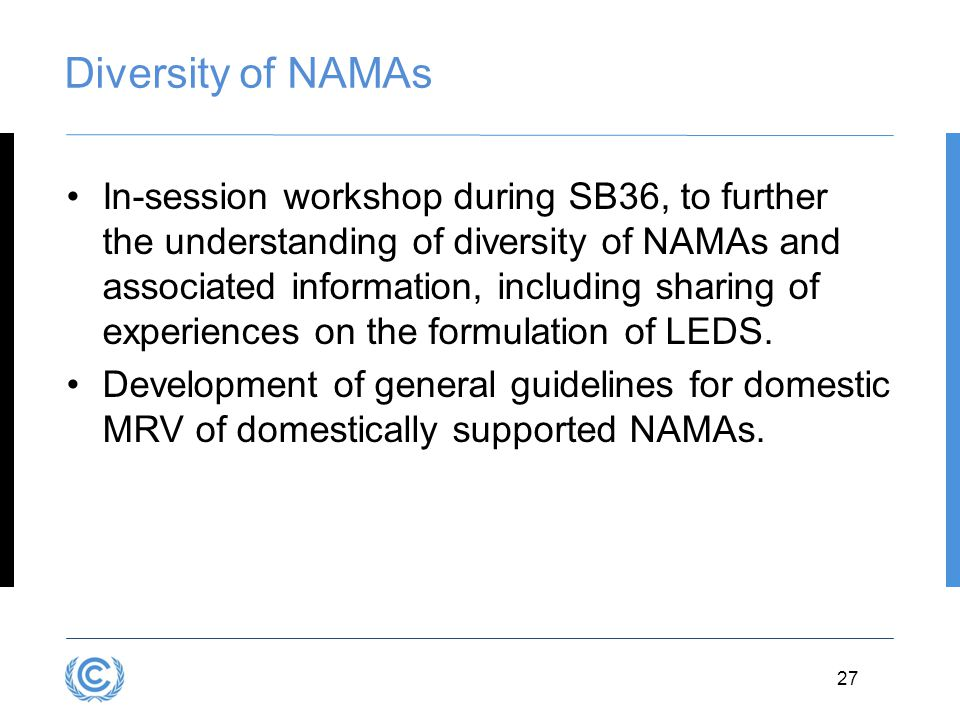 Diversity of NAMAs
