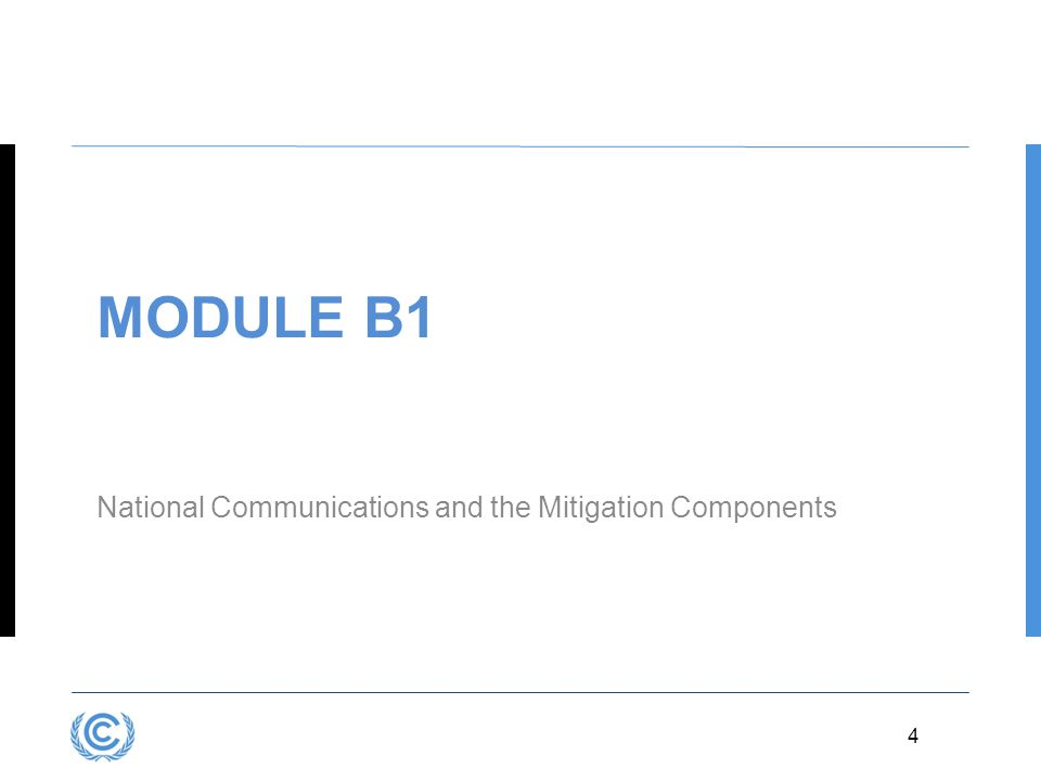 Module B1 National Communications and the Mitigation Components