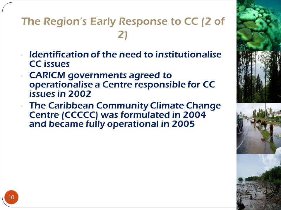 The Region's Early Response to CC (2 of 2)