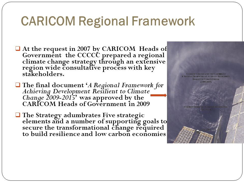 CARICOM Regional Framework