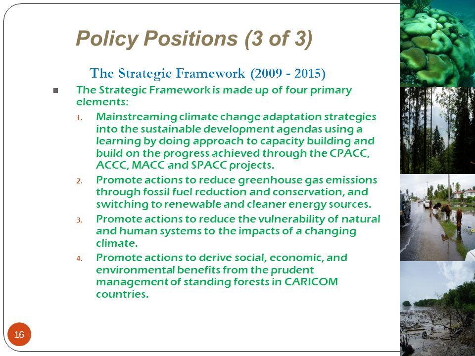 The Strategic Framework (2009 - 2015)
