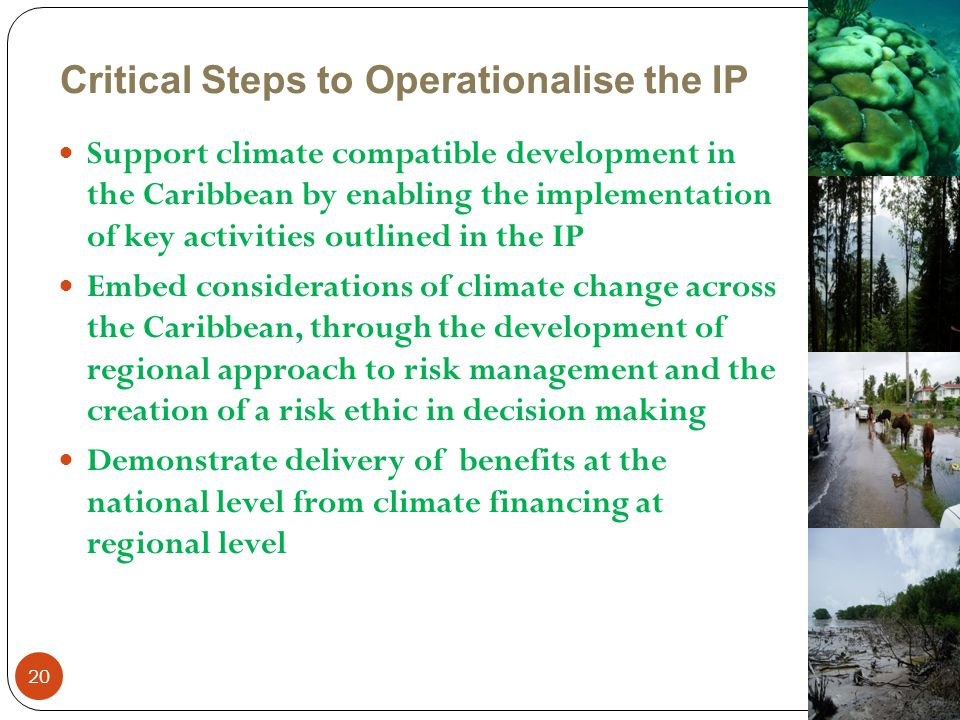 Critical Steps to Operationalise the IP