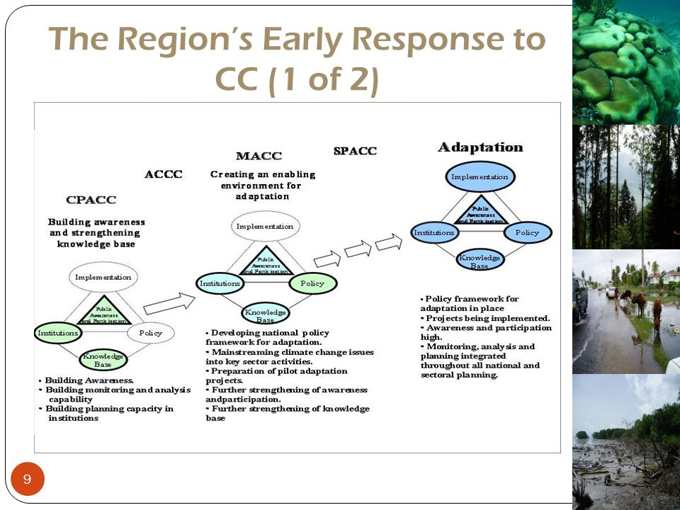 The Region's Early Response to CC (1 of 2)