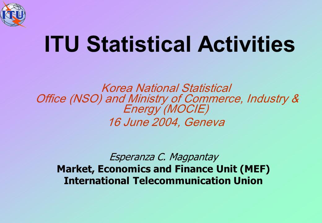 ITU Statistical Activities