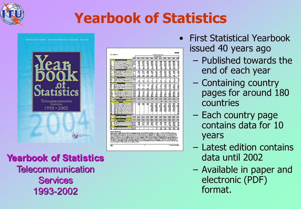 Yearbook of Statistics