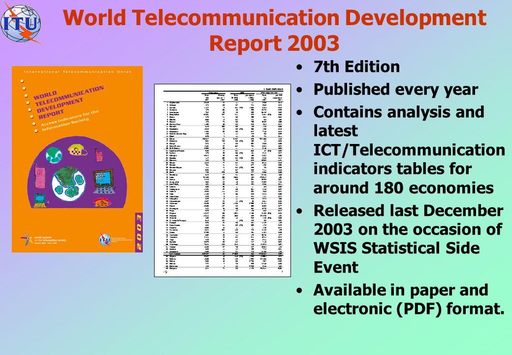 World Telecommunication Development Report 2003
