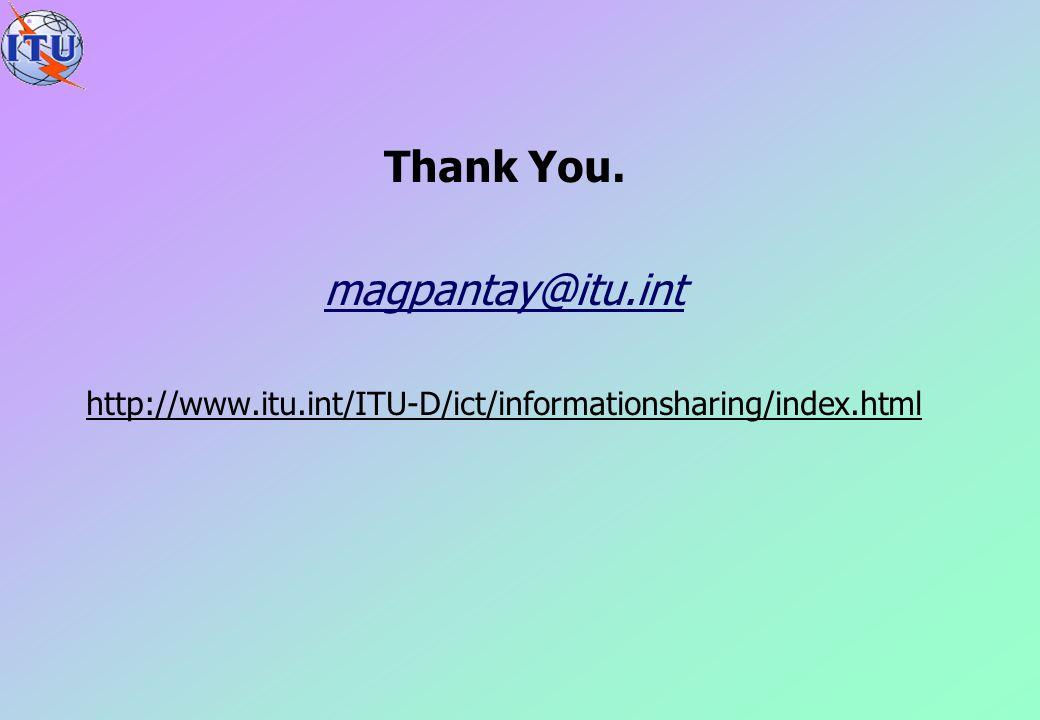 Thank You. magpantay@itu.int