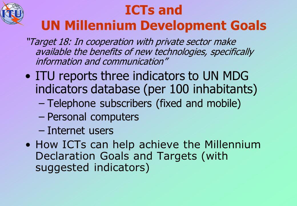 ICTs and UN Millennium Development Goals