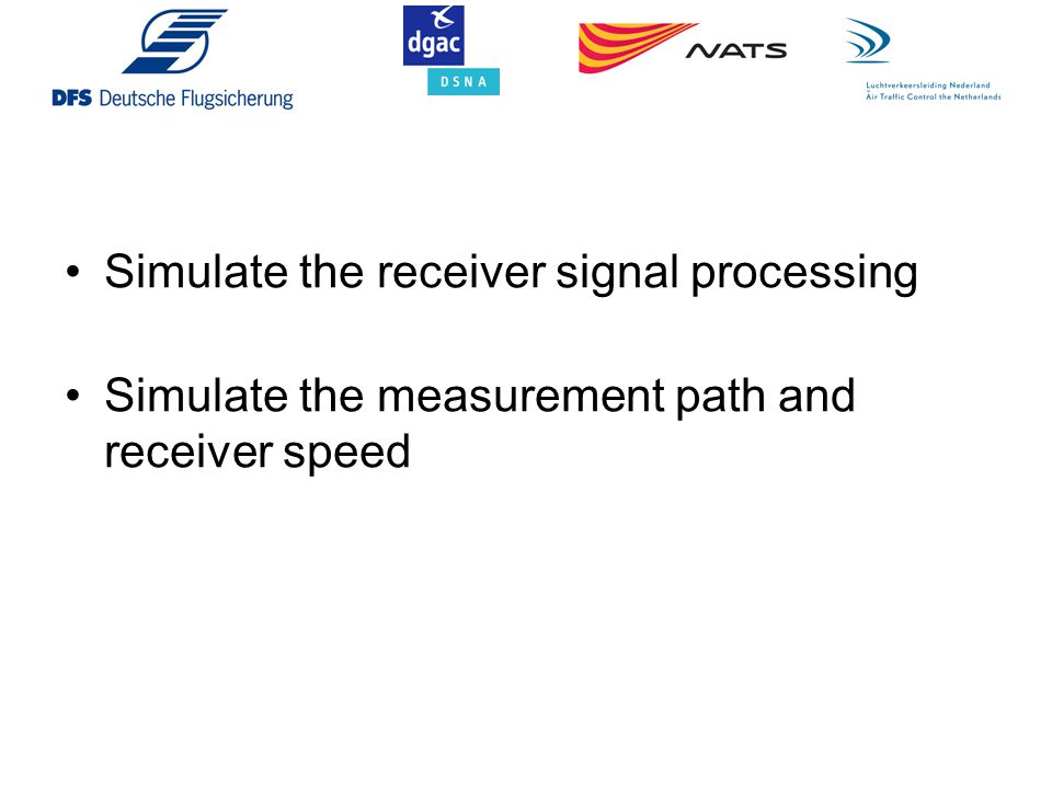 Simulate the receiver signal processing