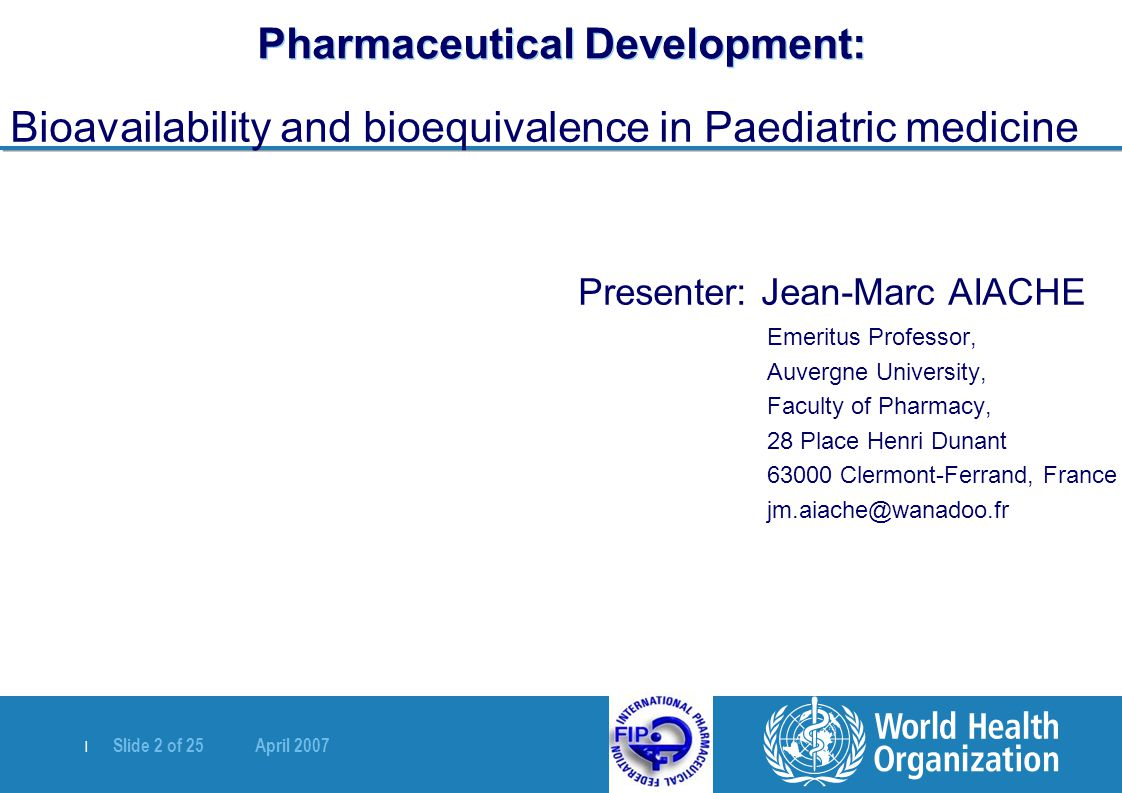 Pharmaceutical Development: