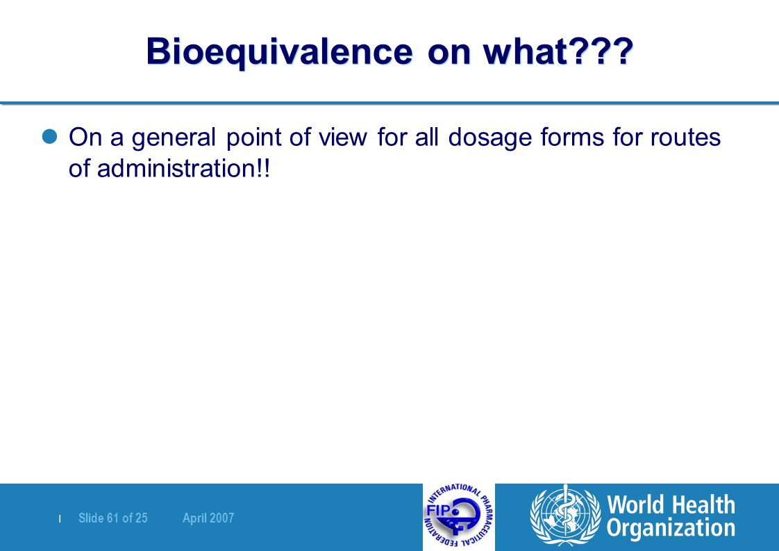 Bioequivalence on what