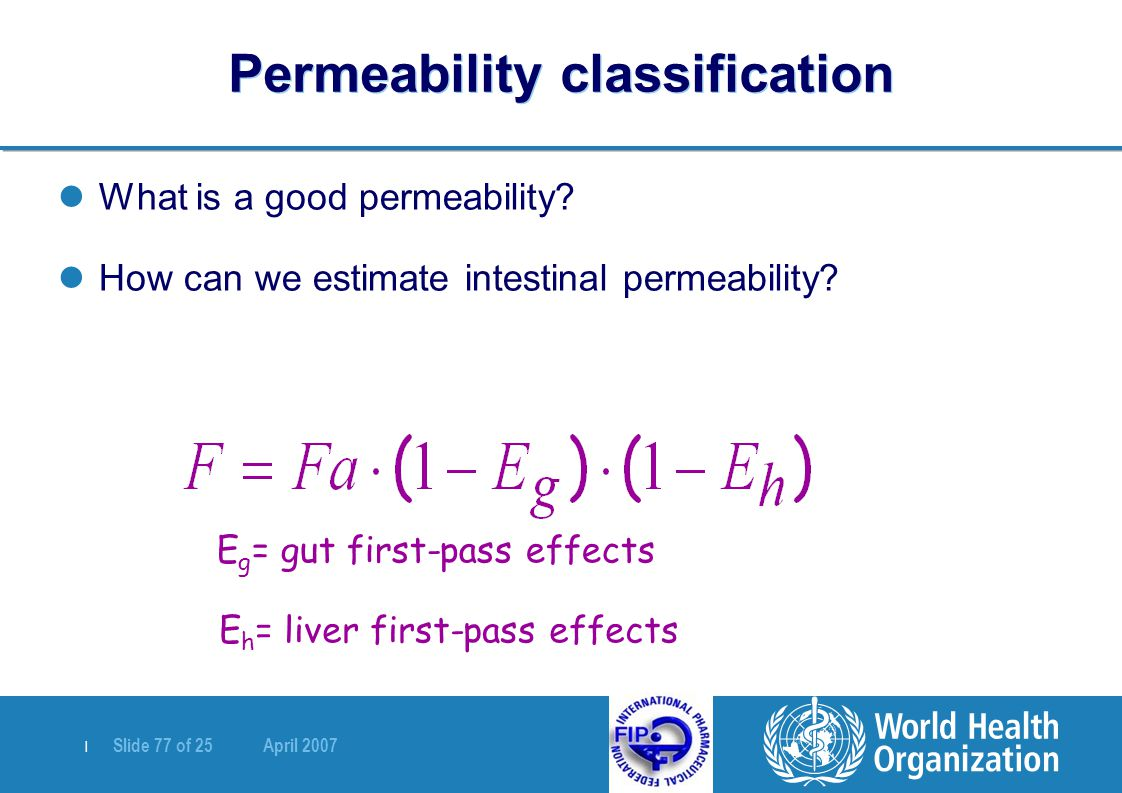 Permeability classification
