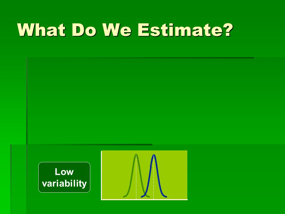 What Do We Estimate Low variability