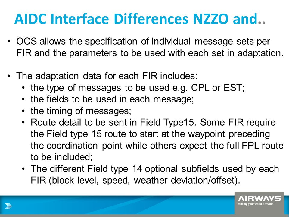 AIDC Interface Differences NZZO and..