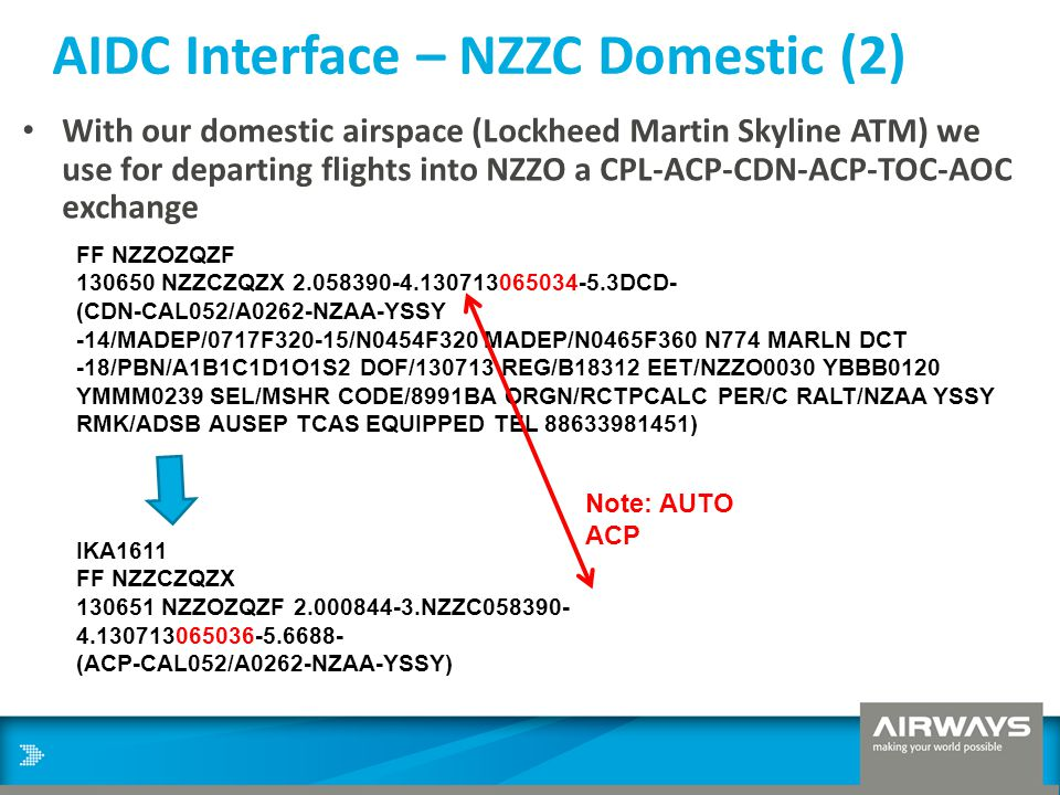 AIDC Interface – NZZC Domestic (2)