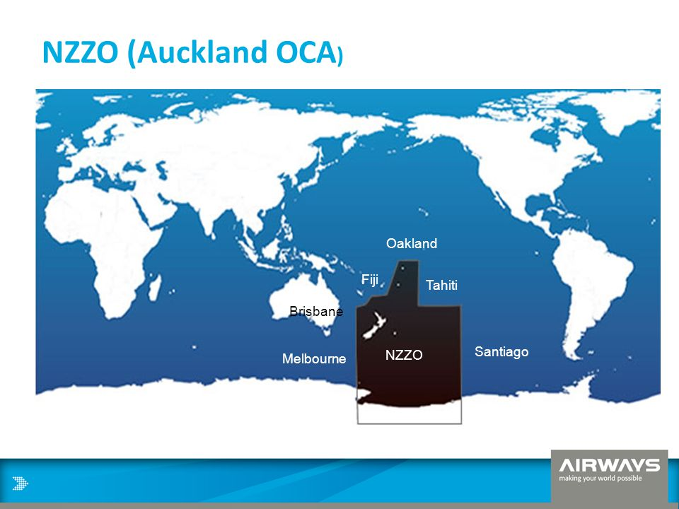 NZZO (Auckland OCA) Oakland Fiji Tahiti Brisbane Melbourne Santiago