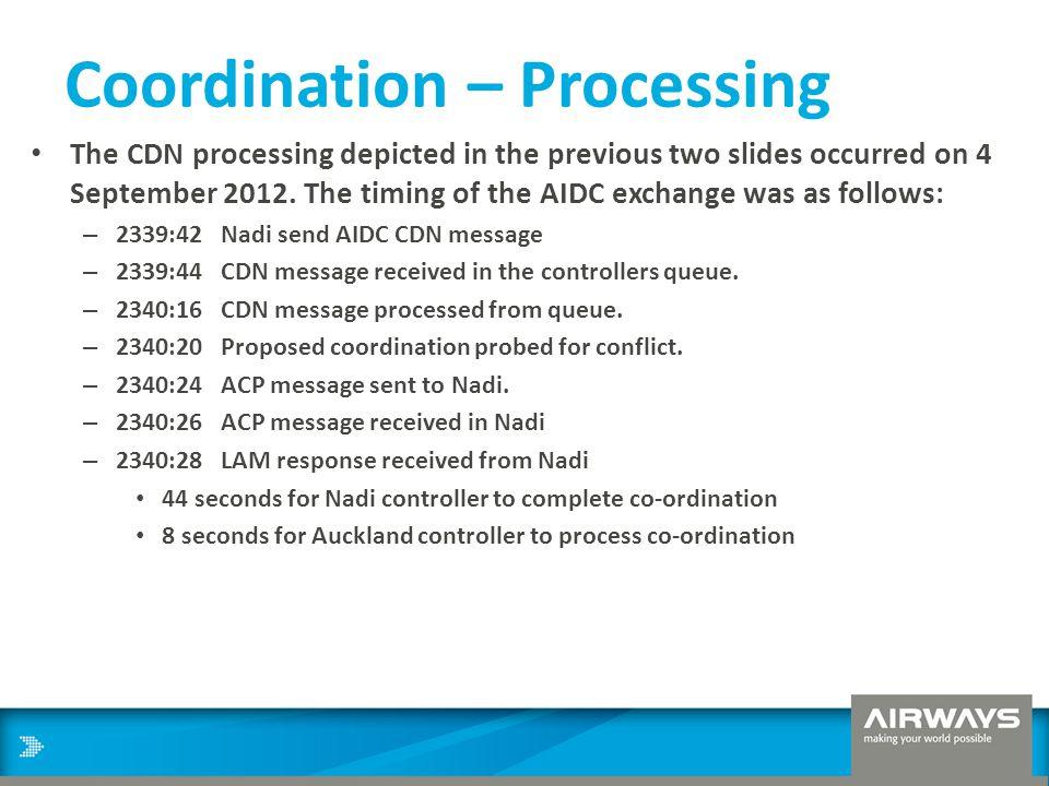 Coordination – Processing