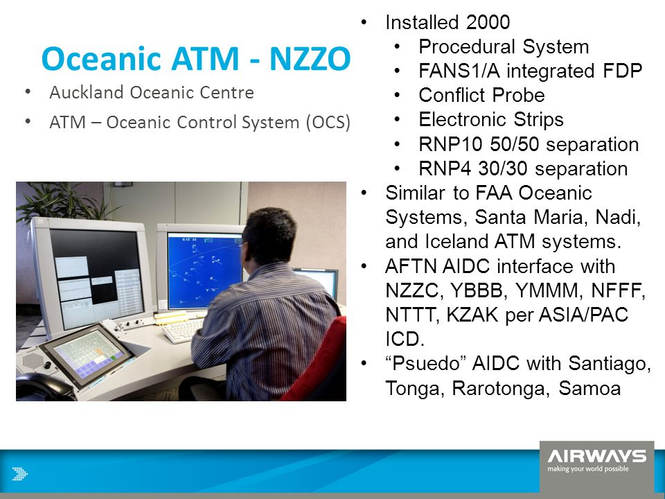 Oceanic ATM - NZZO Installed 2000 Procedural System