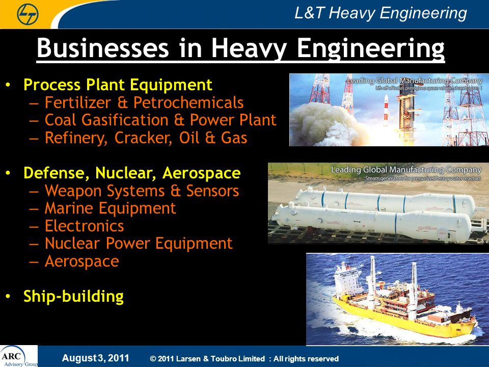 Businesses in Heavy Engineering