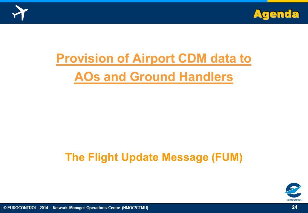 Provision of Airport CDM data to AOs and Ground Handlers