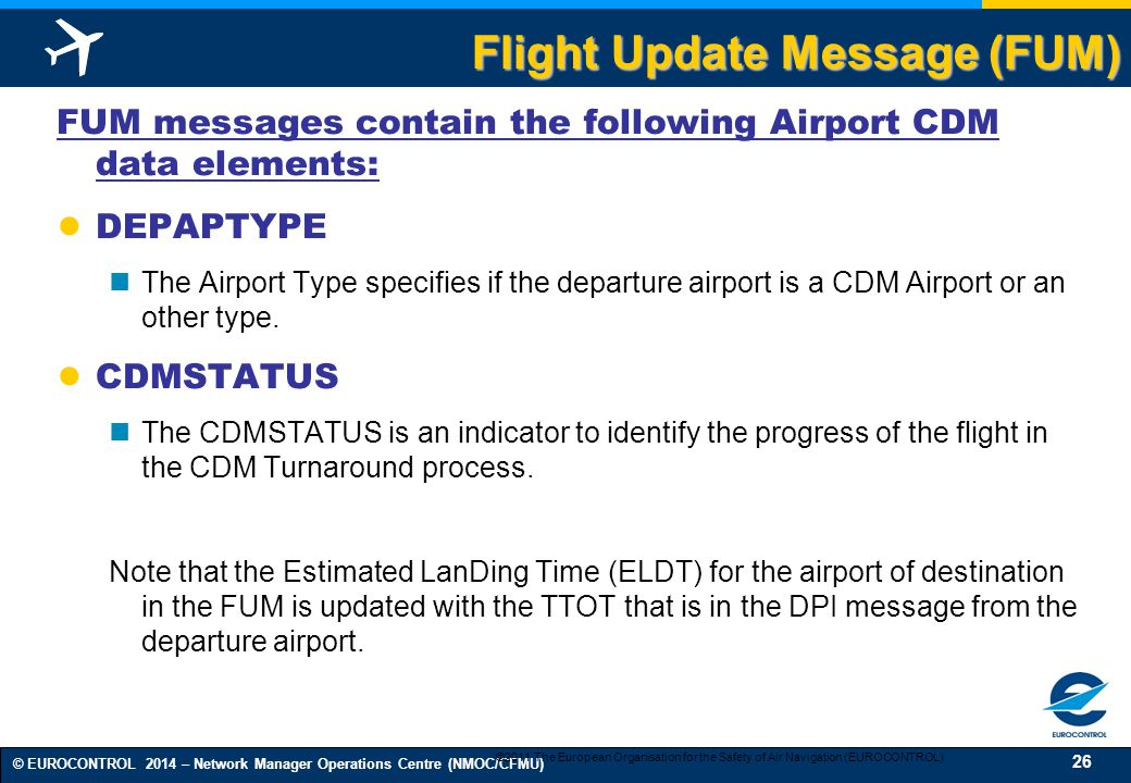 Flight Update Message (FUM)