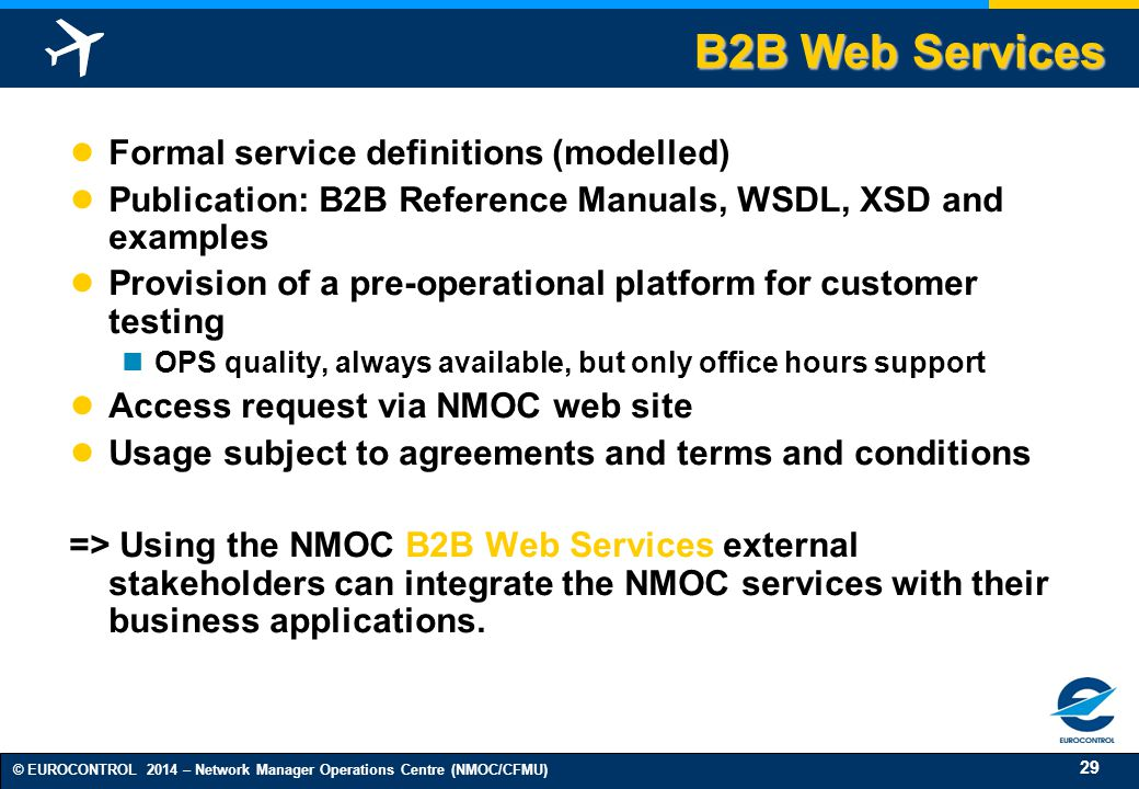 B2B Web Services Formal service definitions (modelled)