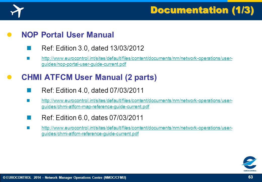 Documentation (1/3) NOP Portal User Manual