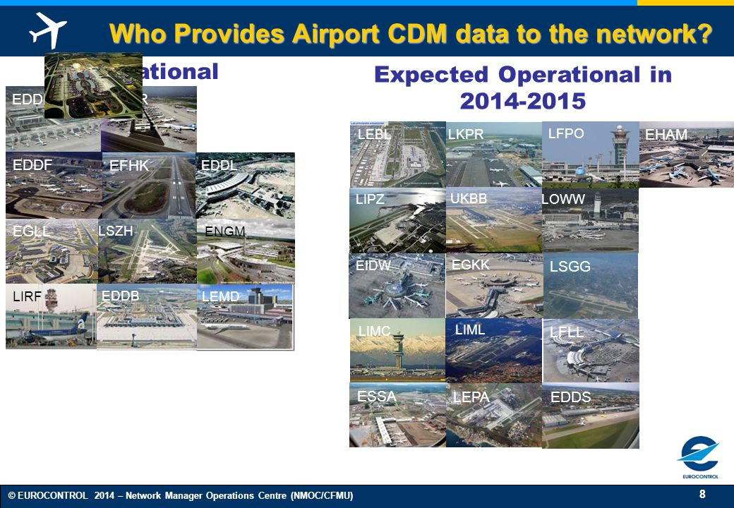 Who Provides Airport CDM data to the network