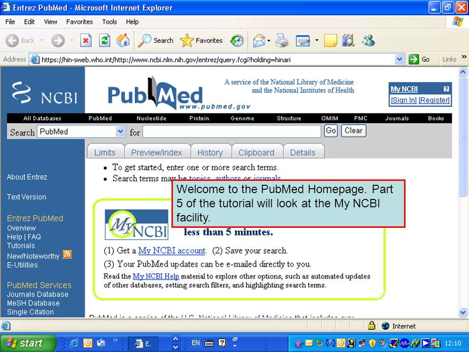 Welcome to the PubMed Homepage