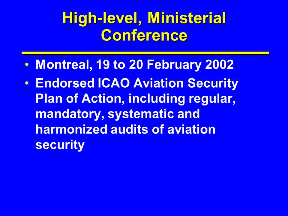 High-level, Ministerial Conference