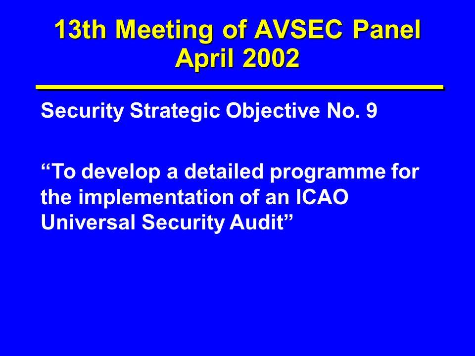 13th Meeting of AVSEC Panel April 2002