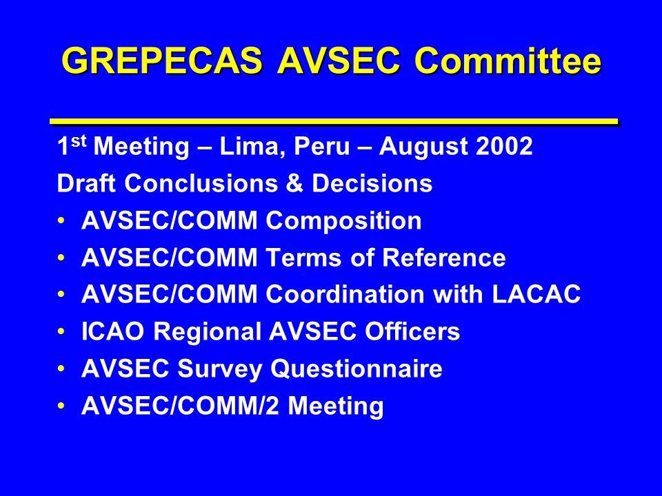 GREPECAS AVSEC Committee
