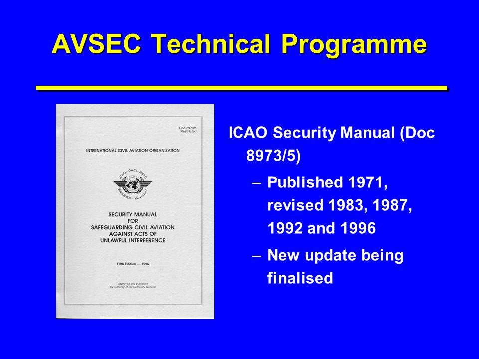 AVSEC Technical Programme