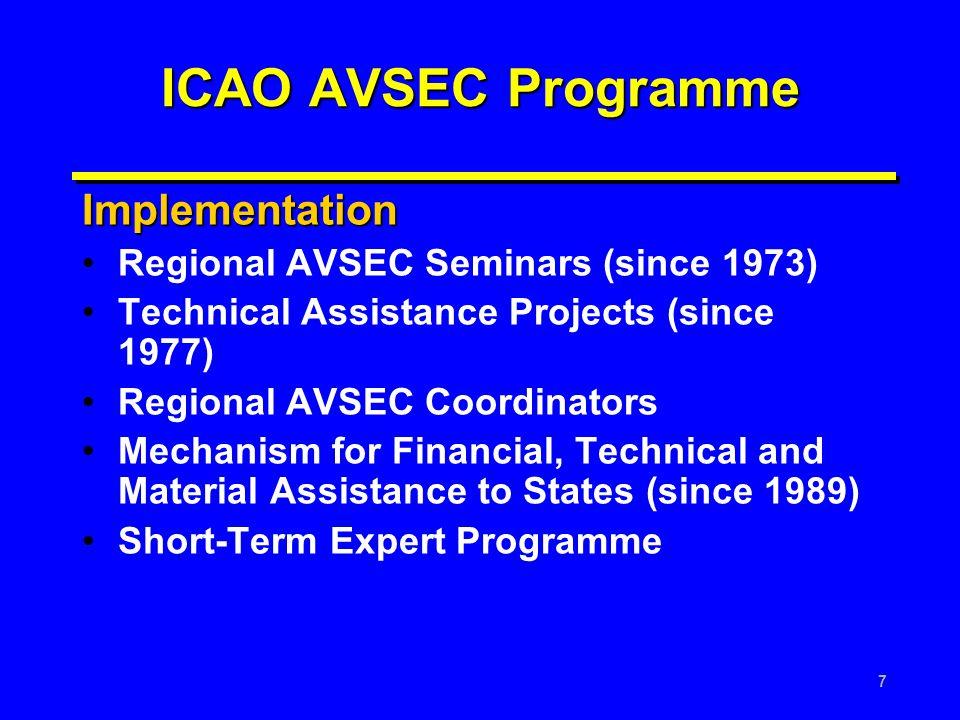ICAO AVSEC Programme Implementation