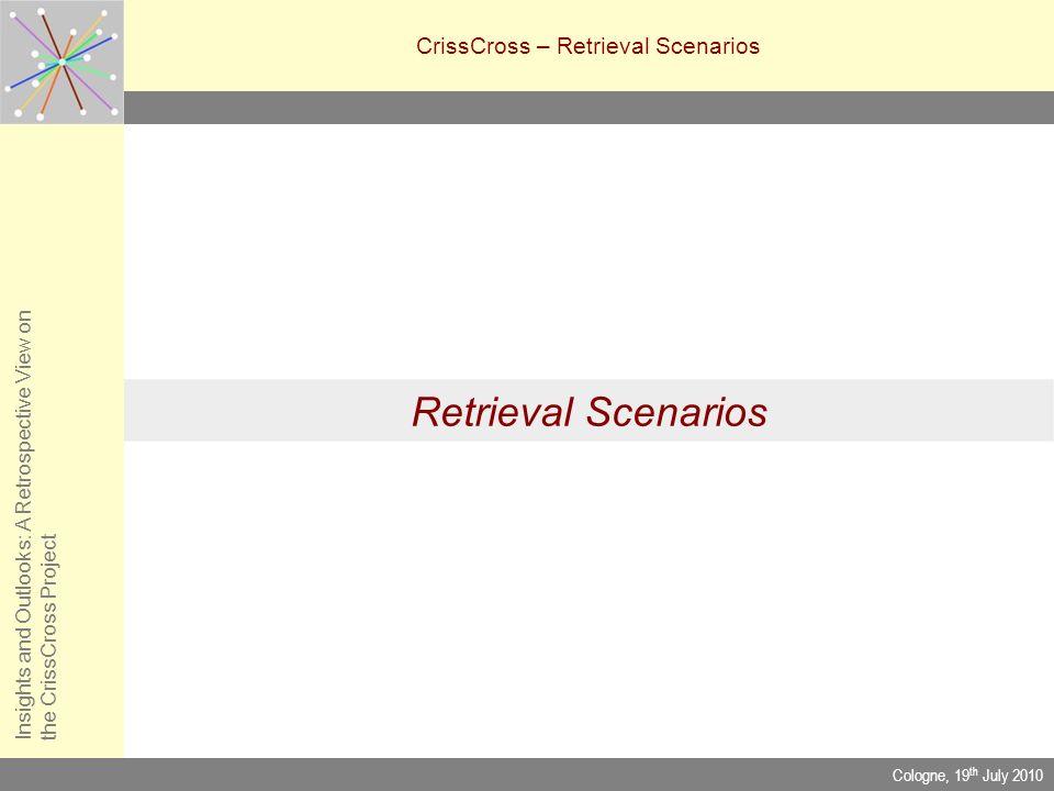 CrissCross – Retrieval Scenarios