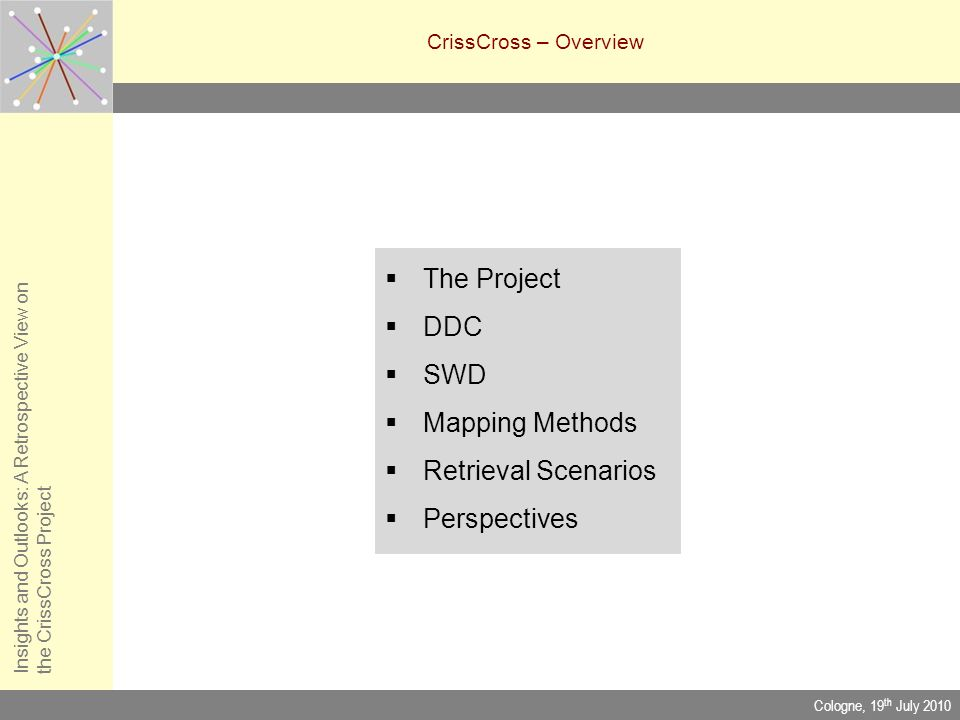 The Project DDC SWD Mapping Methods Retrieval Scenarios Perspectives