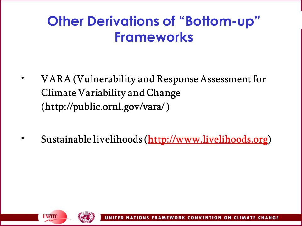 Other Derivations of Bottom-up Frameworks