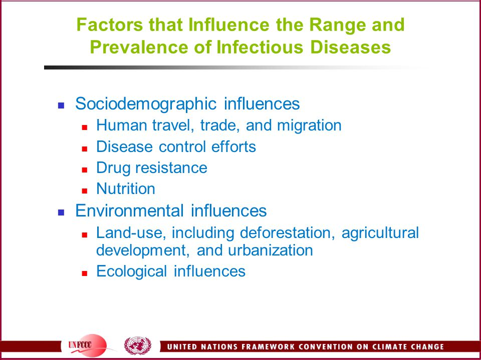 Factors that Influence the Range and Prevalence of Infectious Diseases