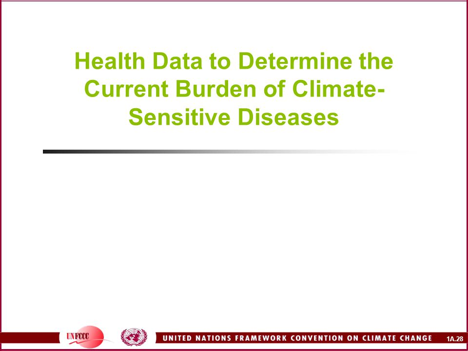 Health Data to Determine the Current Burden of Climate-Sensitive Diseases