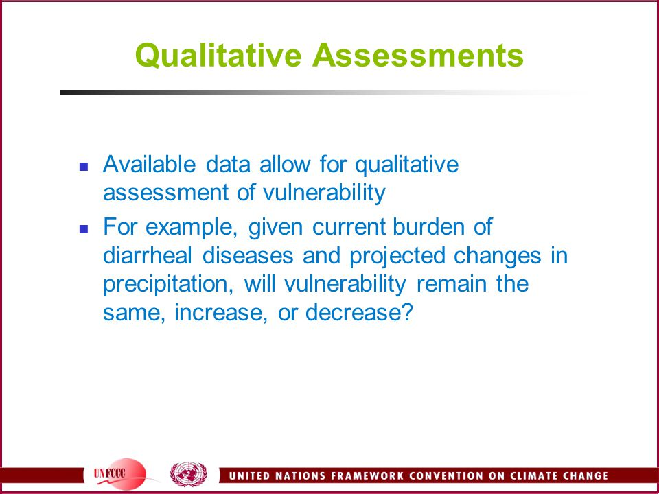 Qualitative Assessments