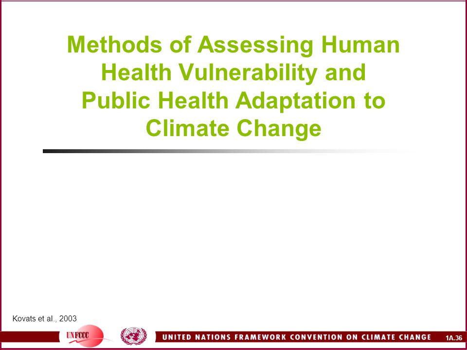 Methods of Assessing Human Health Vulnerability and Public Health Adaptation to Climate Change