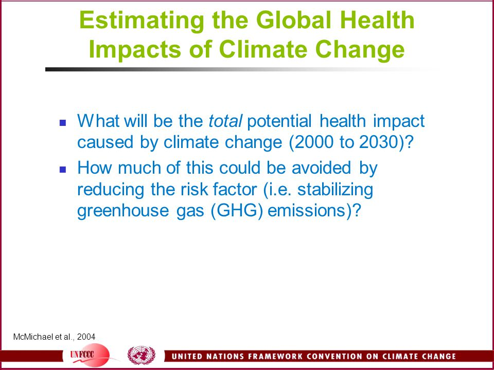 Estimating the Global Health Impacts of Climate Change