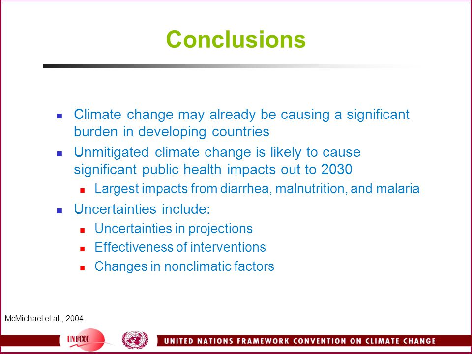 Conclusions Climate change may already be causing a significant burden in developing countries.
