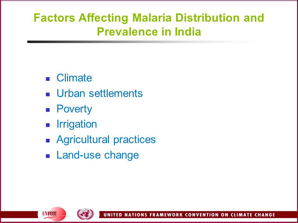 Factors Affecting Malaria Distribution and Prevalence in India