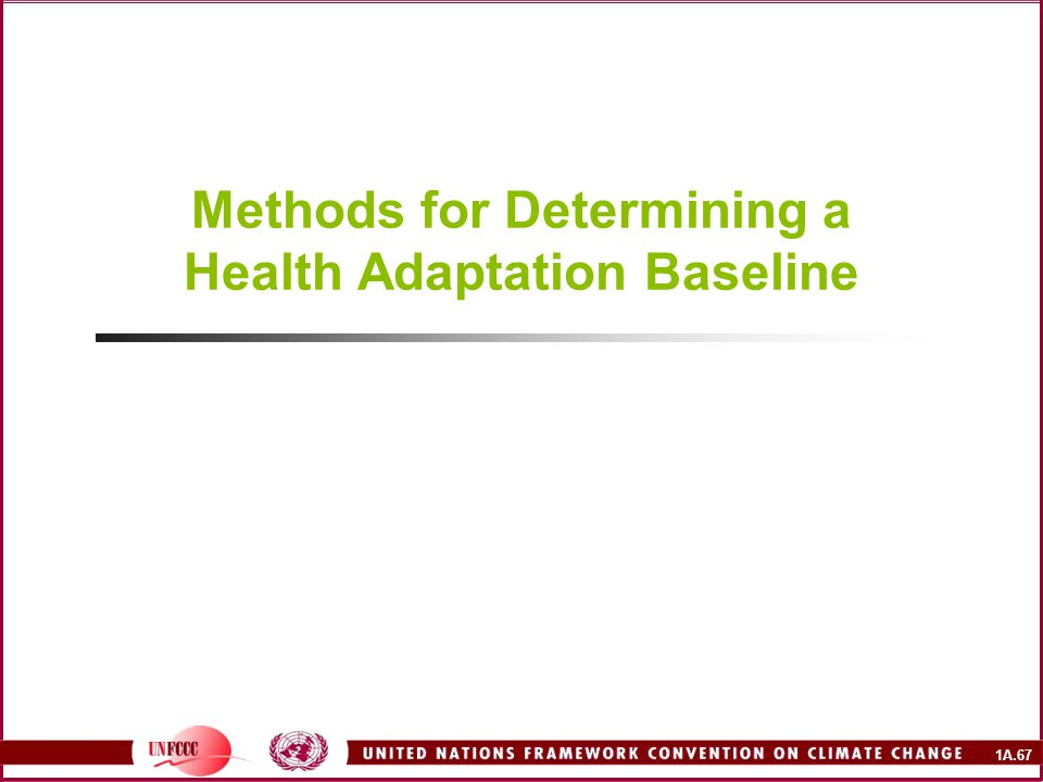 Methods for Determining a Health Adaptation Baseline