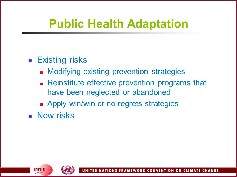 Public Health Adaptation