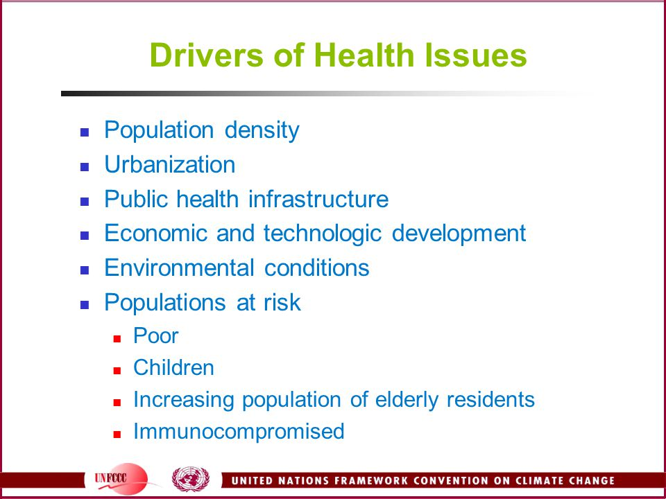 Drivers of Health Issues
